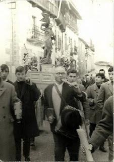 Candelario Salamanca procesión de San Sebastian