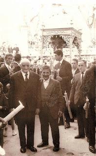 Candelario Salamanca la procesion del Cristo del Refugio años 60