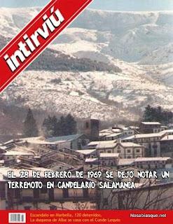 Terremoto en Candelario Salamanca
