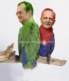 Emil Boc si Theodor Stolojan papagali