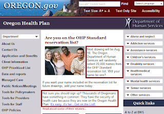 Oregon Health Plan Sucks