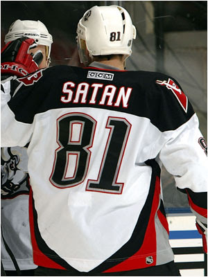 hockey player Satan
