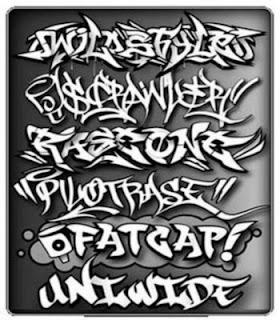 Design Art Graffiti Alphabet