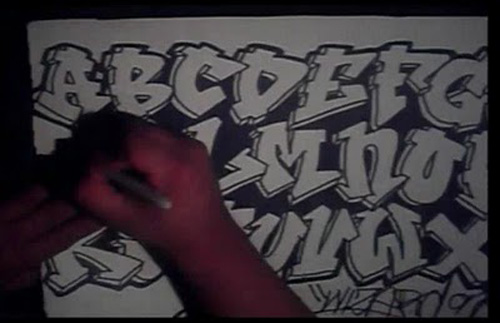 lettering alphabet. graffiti lettering alphabet.
