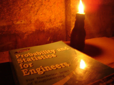 a book with a lamp on loadshedding night