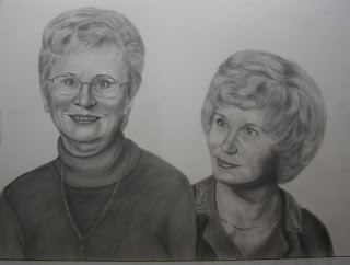 Graphite Pencil Portrait Commission for Mother's Gift