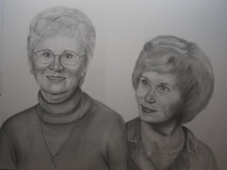 Graphite Pencil Portrait for Mother's Gift