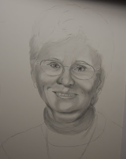 Graphite Pencil Portrait Commission - Mom Birthday