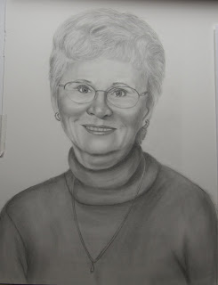 Graphite Pencil Portrait of Mother