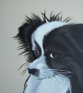 Acrylic Dog Portrait - Papillon Puppy