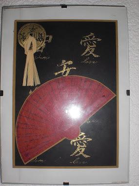 Chineese geluks munt en waaier