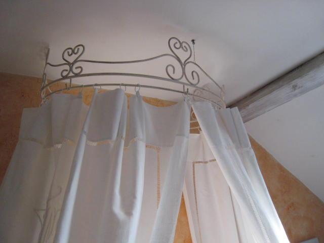 Ciel de lit bois adulte - Rideau ciel de lit ...