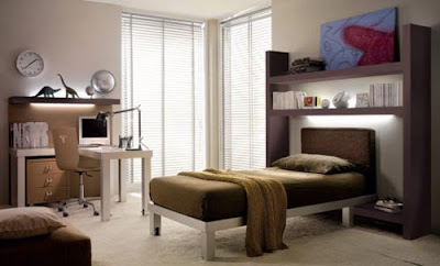 Contemporary Brown Teen Room Design