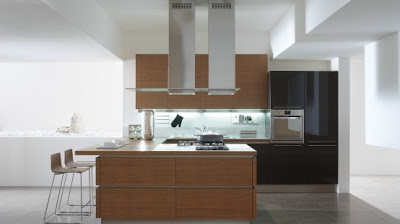 Wooden Elements Kitchens Glossy Black and White