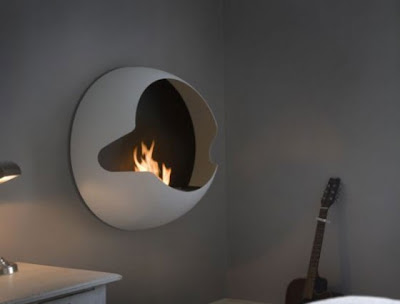 Cupola Spherical Wall Mounted Fireplace ideas