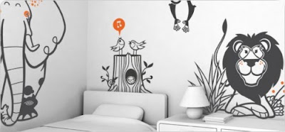 a Charming of Savannah Giant Wall Stickers