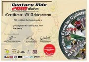 2010 CENTURY RIDE PARTICIPANTS RESULTS
