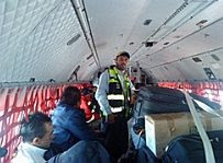 Israeli aid.Mexican plane