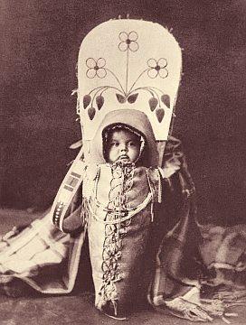 Swaddled boy of the Nez Perce tribe