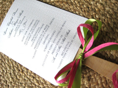 Fan Wedding Programs for the Cool Bride