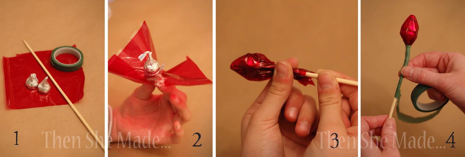Как сделать конфету из оберточной бумаги