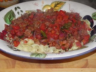 Farrah's Food Adventures: Sweet and Hot Sausage Ragu