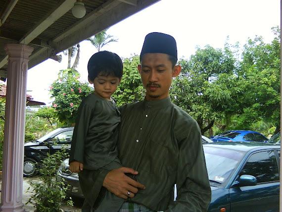 aidilfitri 2009 abah & aariz