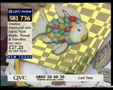 Andrea Webster demonstrates refective beads, fabric paints on QVC