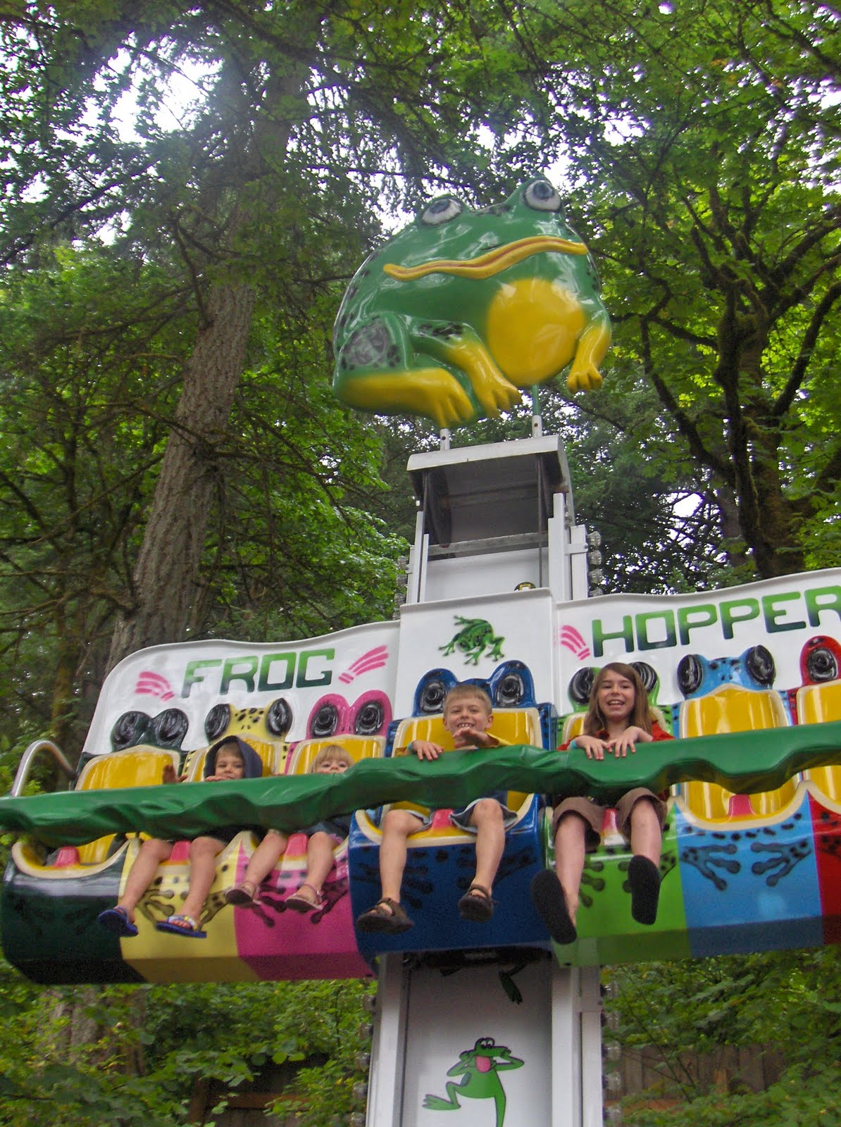 This Is Us On The Frog Hopper In Enchanted Forest Oregon It A Fun Place
