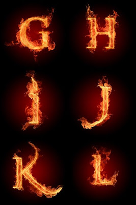 Fire Letters Wallpapers HD 3000 X 3000G L