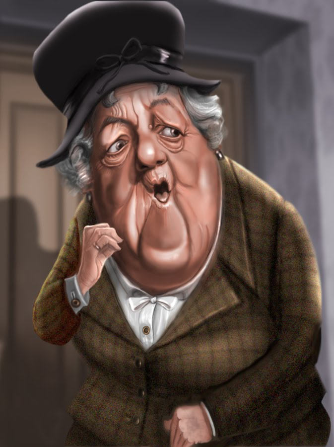 caricature corner dame margaret rutherford. Black Bedroom Furniture Sets. Home Design Ideas