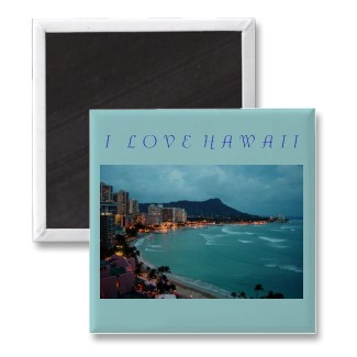 I LOVE HAWAII - MAGNET