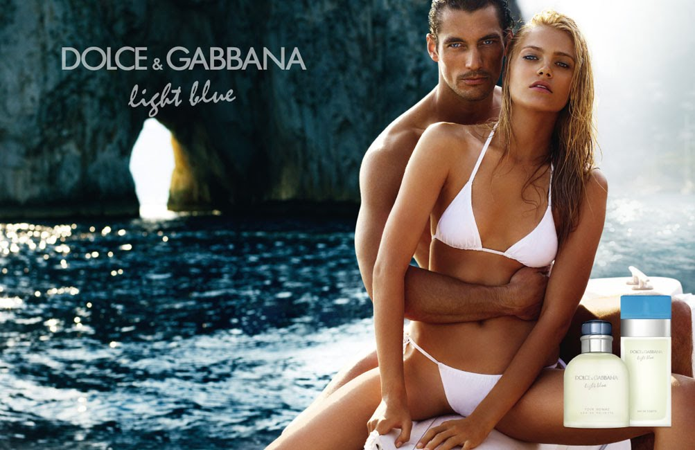 ad campaign dolce gabbana light blue fragrance models david gandy anna
