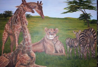 peaceable kingdom painting