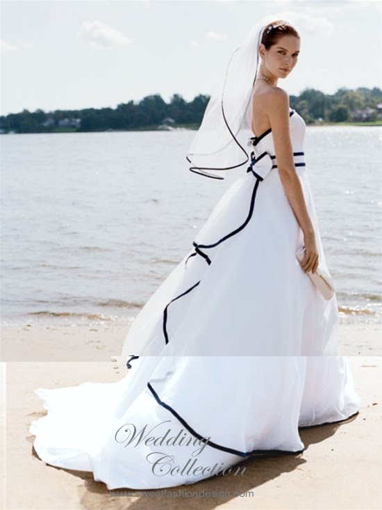 Beach Wedding dresses must ussually design with white color beacuse white