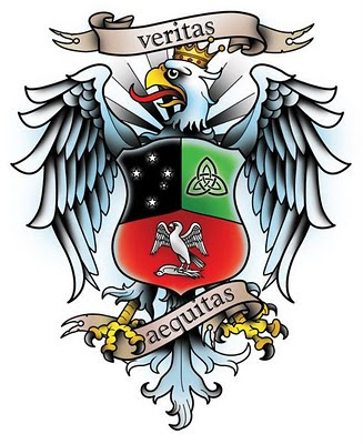 I designed this polish eagle tattoo for Craig Maciejewski.