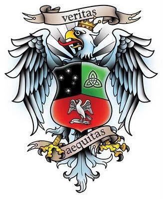 I designed this polish eagle tattoo for Craig Maciejewski.