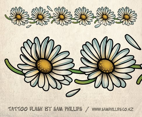I designed this daisy chain tattoo for a tattoo flash set I'm working on.
