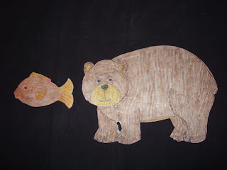 Brown Bear and Gold Fish Say Hello