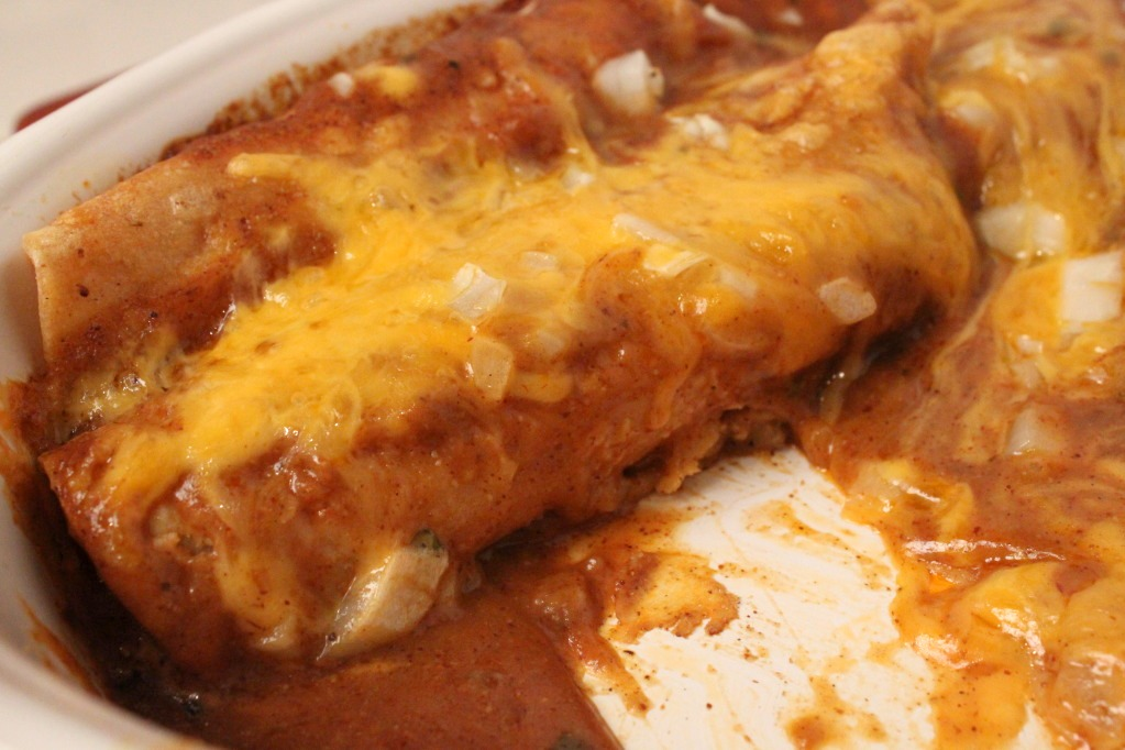 Feast for the Eyes: Cheese & Onion Enchiladas with Tex-Mex Chili ...