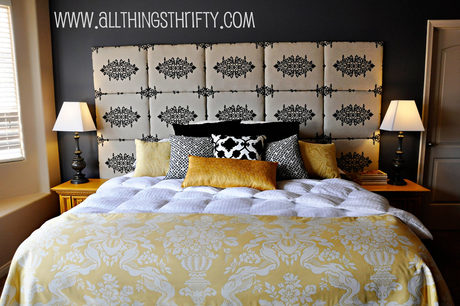 tutorial how to make a fabric headboard. Black Bedroom Furniture Sets. Home Design Ideas
