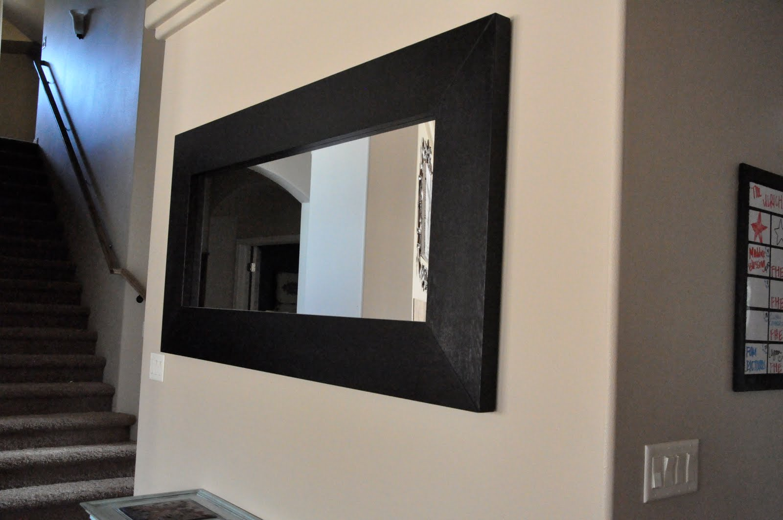 Black framed mirror ikea images for Mirror black
