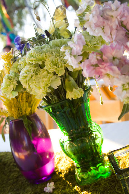 Mismatched Vases...for wedding decor