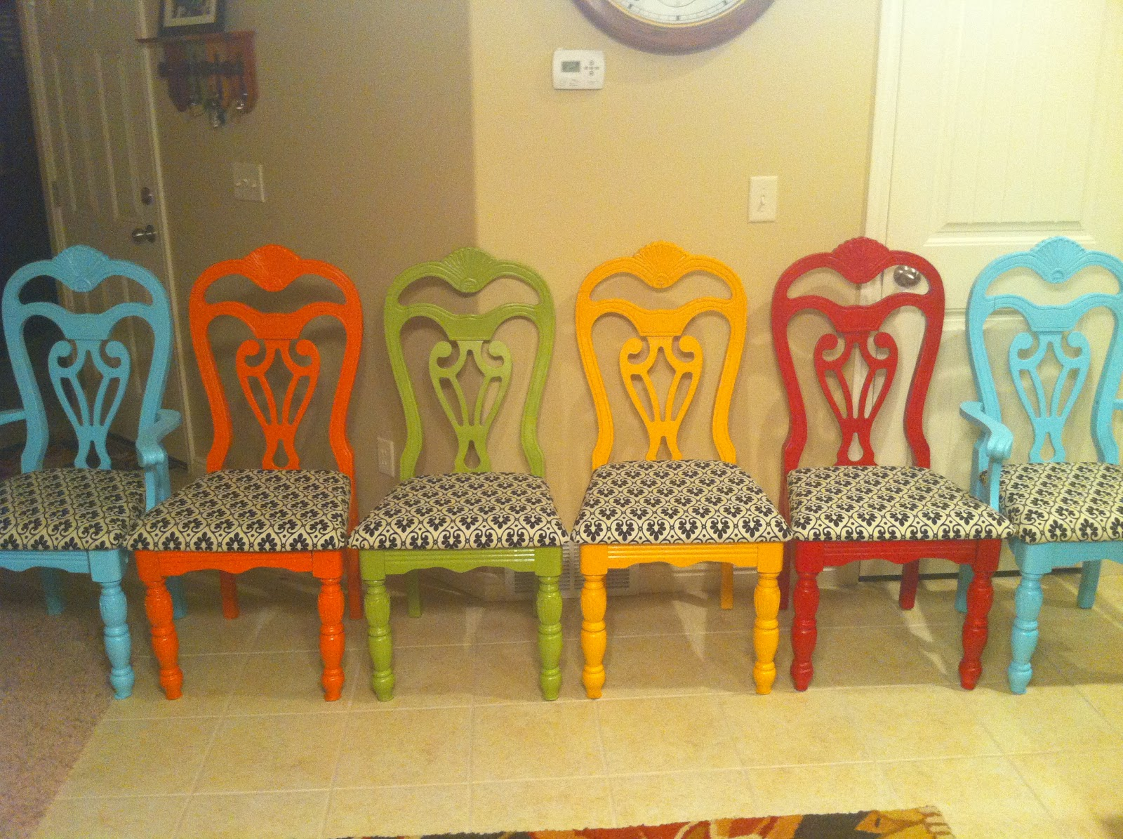 Colorful Dining Room Chairs Jpg