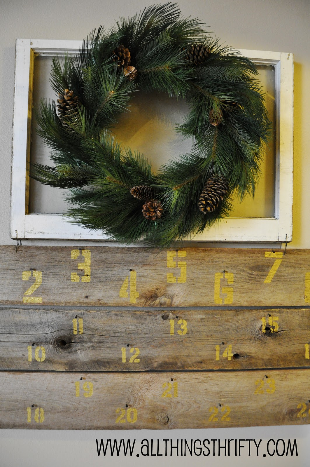 huge barn wood christmas advent calendar all things thrifty