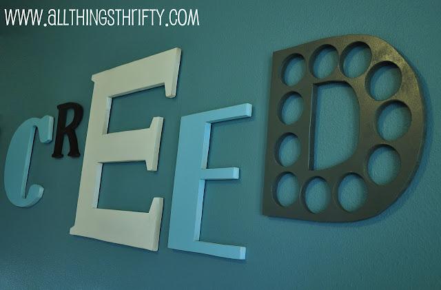 nursery decorating ideas part 6 wooden letters all. Black Bedroom Furniture Sets. Home Design Ideas