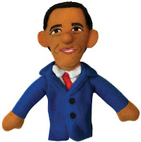 Obama  finger puppet. Sales pitch: Make your own inspiring speeches with ...