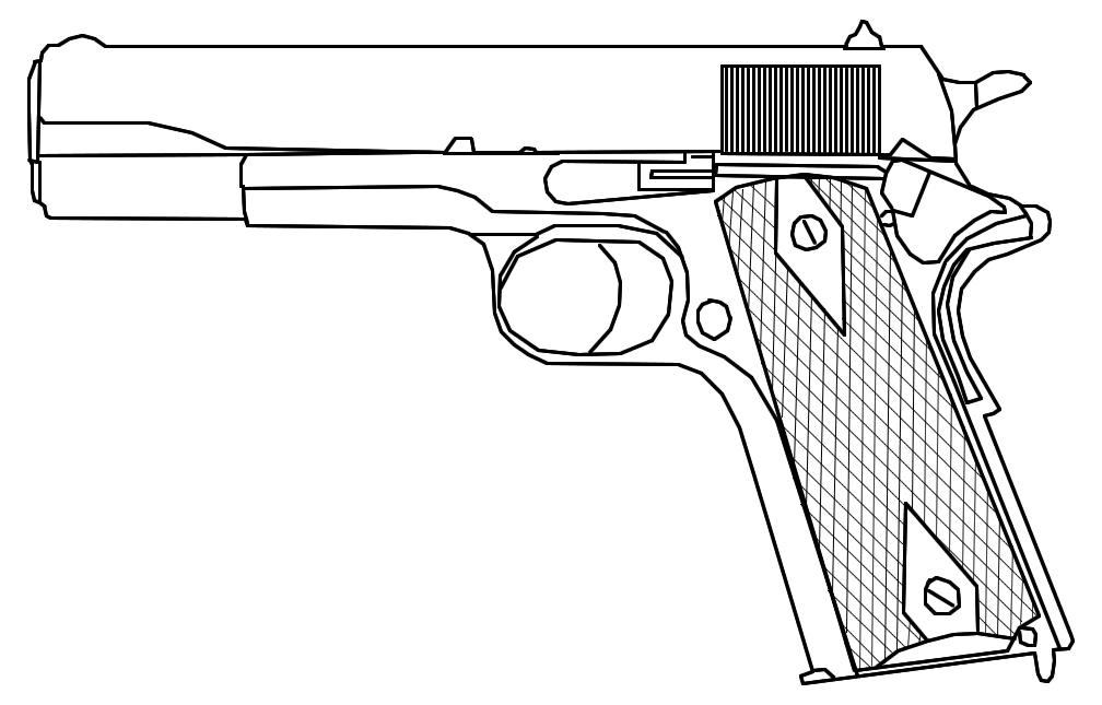 рисунок пистолет из майнкрафт