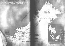 Map Of Sarawak & Borneo Island