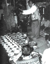 Pemancha Rentap Jemut Waving A Cockerel During Gawai Kenyalang Festival In 2001 At Lubok Antu